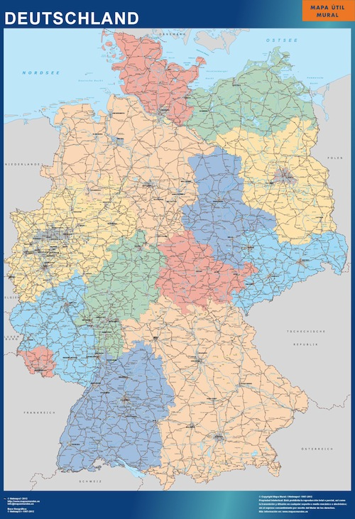 carte murale allemagne