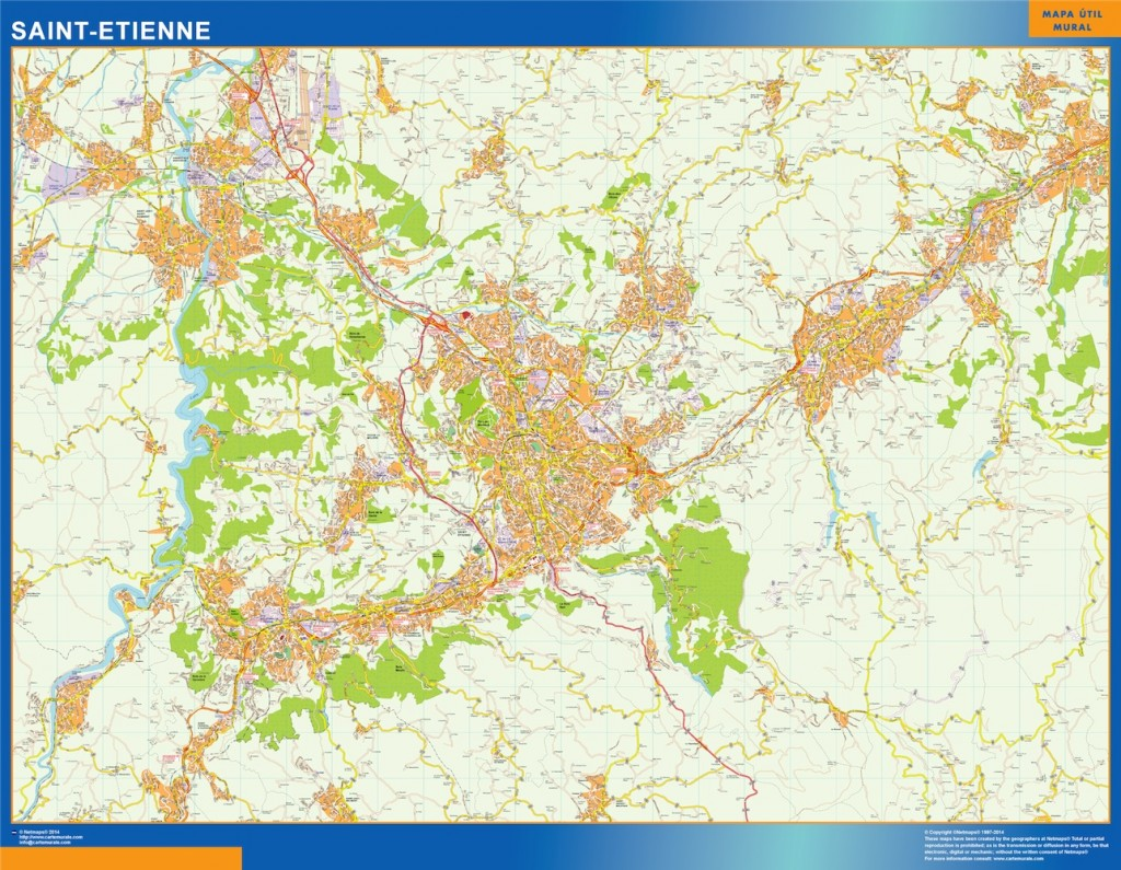carte saint etienne