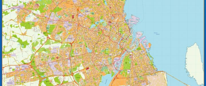 Carte Copenhague Danemark