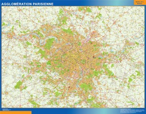 carte agglomeration parisienne