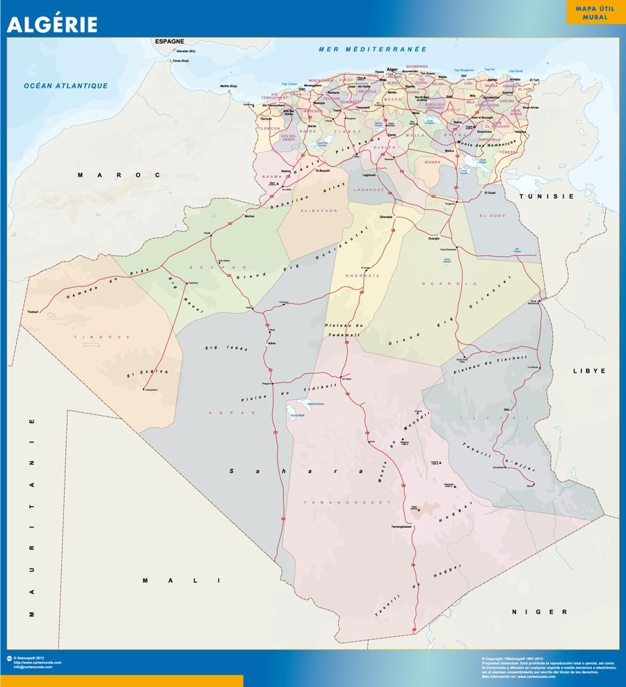 carte murale algerie