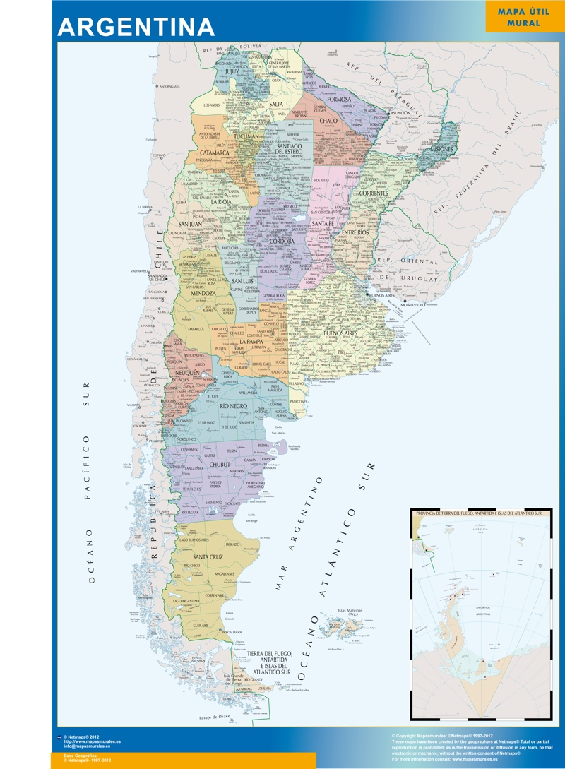 carte murale argentine