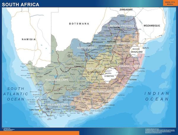 cartes afrique du sud