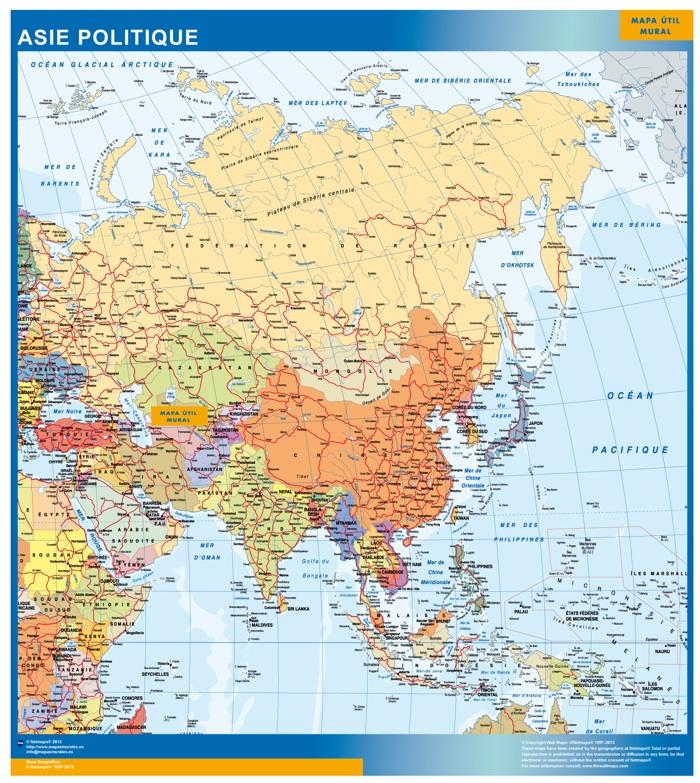 Carte Asie Cartes France Et Monde Géantes