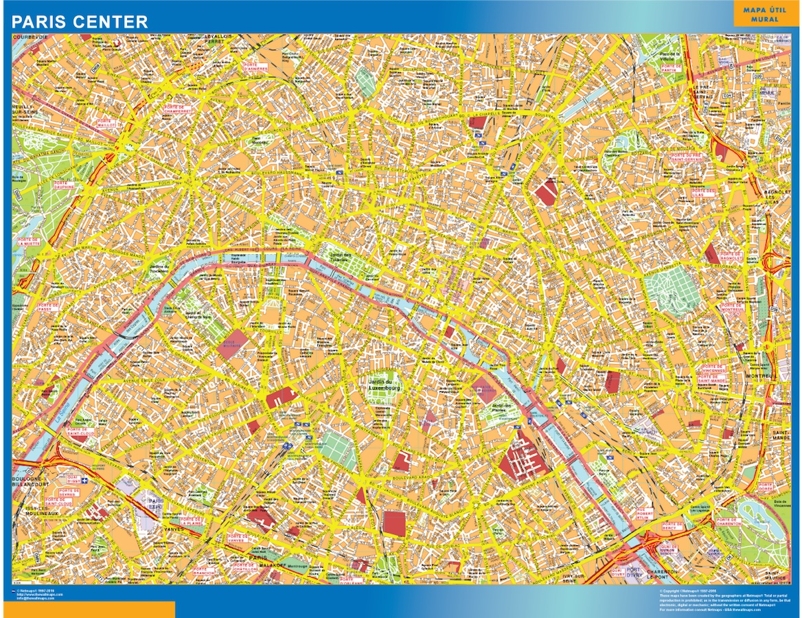 Carte Paris centre ville