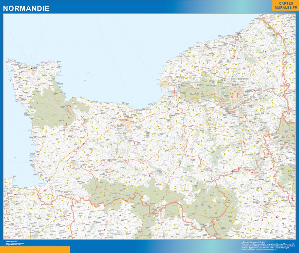 Carte Region Normandie